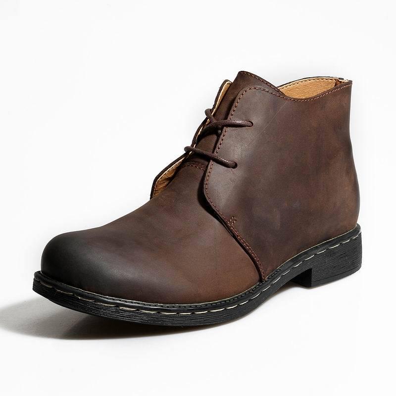 NINYOO/Новые мужские зимние ботинки 50 натуральная кожа 49 теплые Полуботинки martin 47 водонепроницаемые рабочие зимние ботинки 48 размера плюс 51 52 - 4