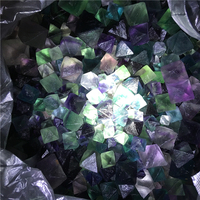 1.5kg natural colorful fluorite octahedron specimen healing crystal mixed size