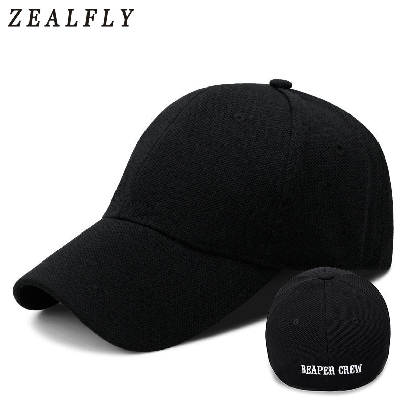 Reaper Crew Fitted   Cap   Closed Full   Baseball     Caps   Women Men Letters Embroidered Hat Hip Hop Hat For Men Dad Gorras
