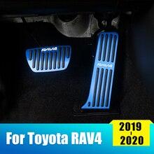 Автомобильный акселератор из алюминиевого сплава, педаль газа, педаль тормоза, накладка, нескользящая Накладка для Toyota RAV4, автомобильные аксессуары