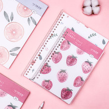 80 sheets Cute A5 Coil Notebook Kawaii Cartoon Pull-out Loose-leaf Book Stationery School Office Supplies Kids Gifts