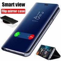 Smart Spiegel Flip Fall Für Xiaomi Redmi Hinweis 10 9 9s 8 8T Poco X3 NFC M3 7 10s Pro Max 6A 7A 9A 9C Mi 9T 10T Lite Abdeckung Coque