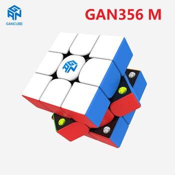 цена на Newest GAN356 M 3x3x3 Magnetic Magic Cube 3x3 Speed GAN356M Maze Puzzle GAN 356 M GES Magico cubo Educational Toys for Children