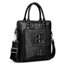 крокодил yinshang сумки для мужчин бизнес портфель для мужчин компьютер сумка вертикальная мужская деловая поездка деловая сумка мужчины сумка