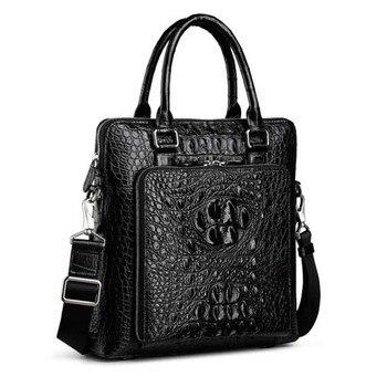 yinshang crocodile handbag for men Business briefcase for men computer bag vertical  men business trip business bag men handbag bossdun men