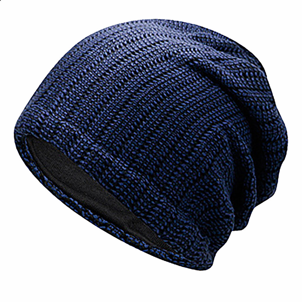 Unisex Women Men Mixed Color Winter Plus Outdoor Baggy Warm Crochet Winter Wool Knit Ski Beanie Skull Slouchy Caps Hat HOT