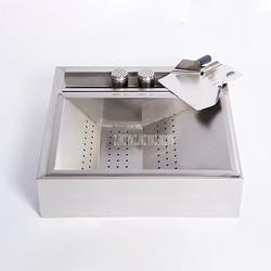 Nowy pulpit frytki maszyna do filtrowania oleju pełne nierdzewne stalowe frytki chipy filtracja oleju stacja robocza dla hamburga Store Roboty kuchenne AGD -