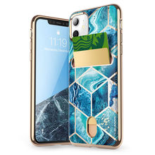 Женский чехол для iPhone 11, чехол 6,1 дюйма (выпуск 2019 года), кошелек Cosmo, тонкий дизайнерский чехол бумажник с мраморным рисунком, задняя крышка для iPhone 11 6,1 дюйма