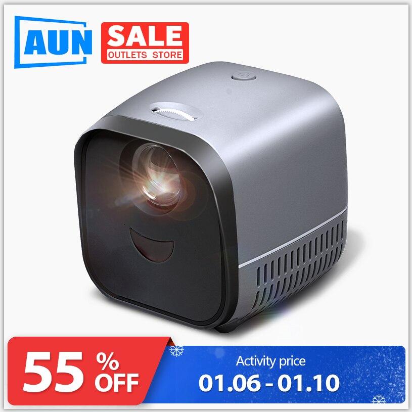 Projecteur vidéo de Beamer de LED USB, Super MINI projecteur L1 | USB pour 1080P cinéma maison, lecteur multimédia USB, cadeaux haut de gamme