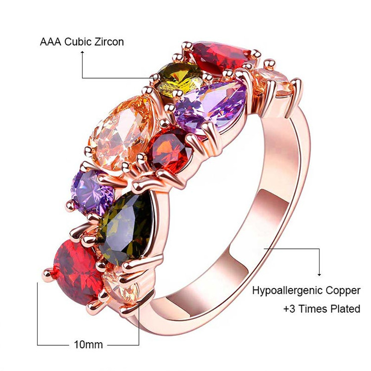 Fashion Mona Lisa Silver Color Engagement Ring Crystal From Austrian Wedding Rings For Women Jewelry Accessories Anillos