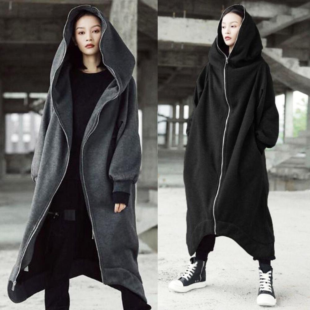Women Oversized Hooded Long Sleeve Zipper Maxi Loose Hoodies Sweatshirt Coat Hooded Sweatshirt hoodies For Women's Clothing