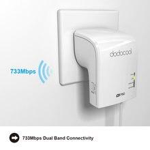 Dodocool AC750 Dual Band Wireless WiFi AP / Repeater / Router Simultanea 2.4GHz 300Mbps e 5GHz 433 mbps EU/Spina DEGLI STATI UNITI