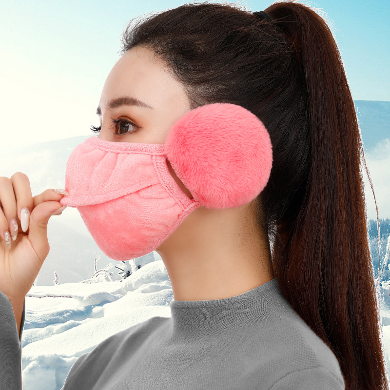 Hot Two In One Fashion Masks Pure Cotton Pure Ear Protectors Masks Winter Men Women Riding Keeping Warm Dustproof Soft Fur Masks