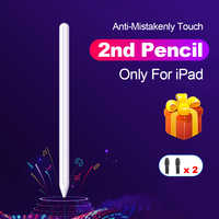 Para Apple lápiz 2 Touch Pen Stylus para iPad Pro 11 12,9 9,7, 2018 3 10,2 2019 Mini 5 para iPad lápiz sin demora pluma de dibujo