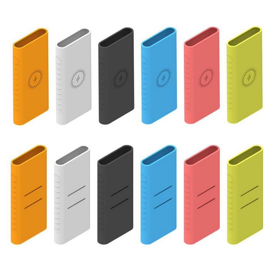 Besegad Fashion Non-slip Soft Silicone Protective Case Cover Shell for NEW <font><b>Xiaomi</b></font> Mi Power Bank 3 10000mAh Power Bank Battery image