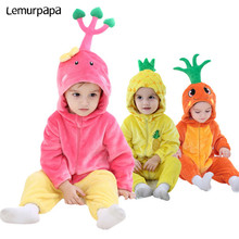 Vêtements pour bébés filles et garçons de 0 à 3 ans, barboteuse mignonne carotte ananas, combinaison amusante, Costume de fête carnaval vêtements de nuit