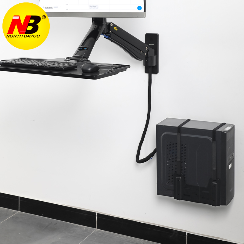 NB G15 Wall Mount Computer Case Holder Side Mount PC Mainframe Hanging Bracket Desk Chassis Host Mount Bracket