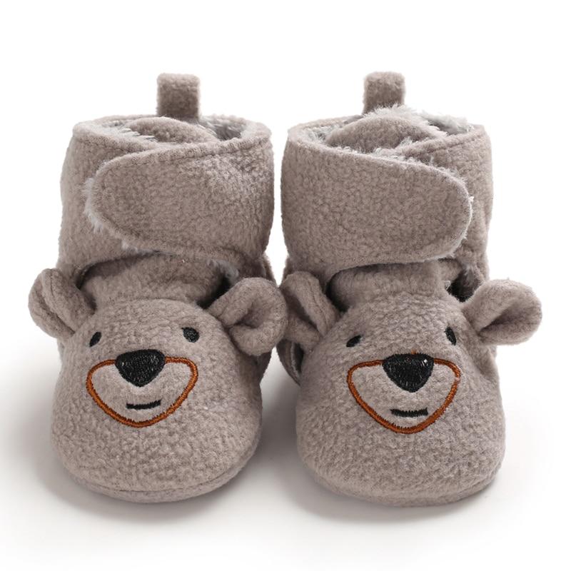 Baby Winter Boots Infant Toddler Newborn Cute Cartoon Bear Shoes Girls Boys First Walkers Keep Warm Snowfield  Boot