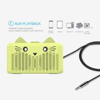 mini wireless bluetooth Cartoon Bluetooth audio speaker portable Mini Cat wireless HD Clear Sound subwoofer Support FM Radio TF Card & U Disk (3)