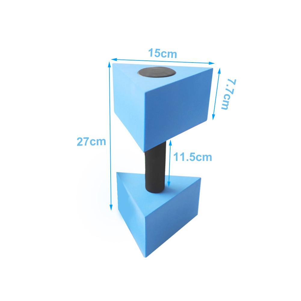 1 par de piscina halteres triangular exercício