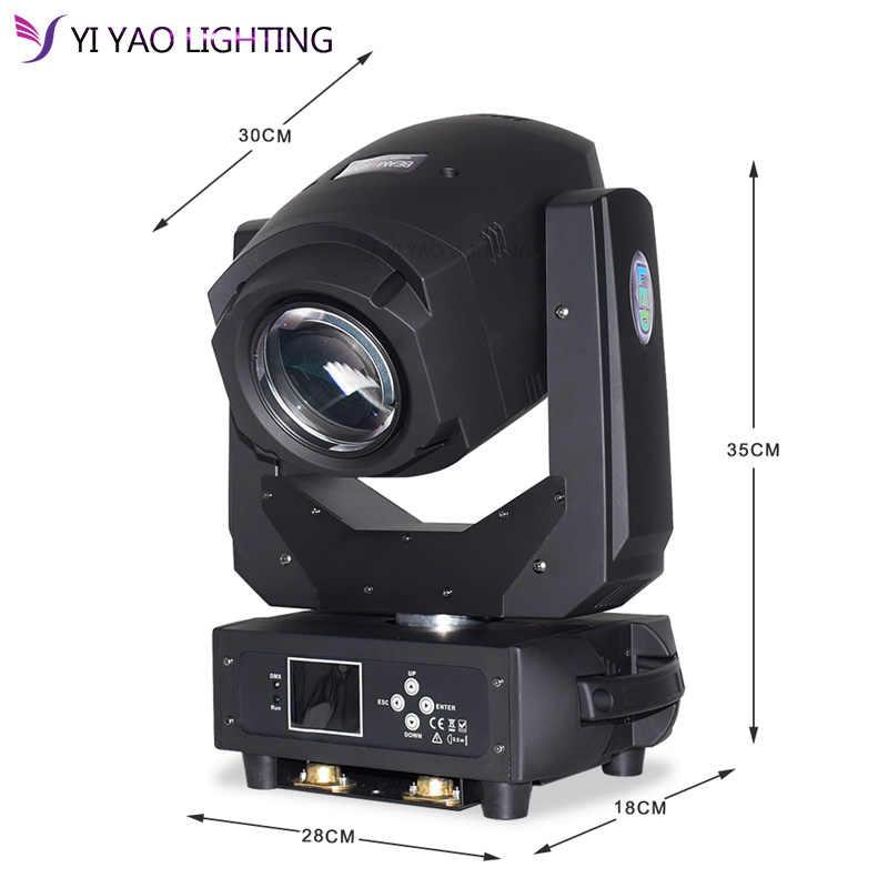 Lampu LED Moving Head Lampu Sorot 200 W DMX Gobo 3 Wajah Prisma Zoom Disco Light Stroboskop Lantai Dansa Moving Head DJ Pesta Lampu