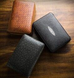 Lubinski-étui à cigares de voyage | En cuir doublé de cèdre, humidificateur avec allume-cigare, ensemble Portable pour l'extérieur