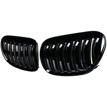 Grade dianteira preta brilhante da grade do rim da capa da linha dobro para 2004-2010 e63 e64 6-series m6 coupe conversível