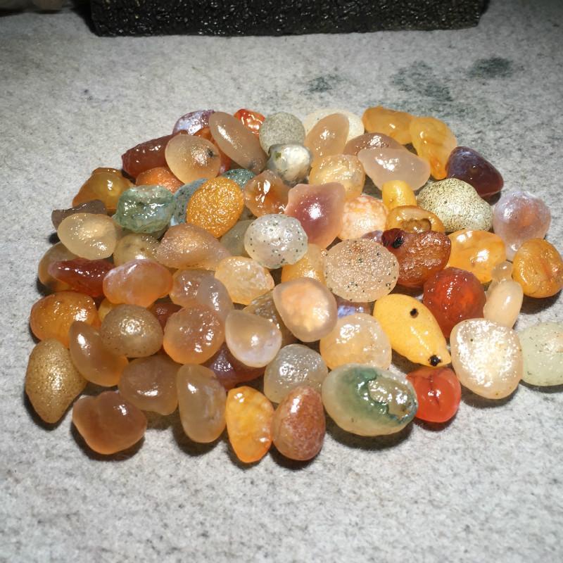 400g Alxa Gobi agate pierre naturelle Quartz cristaux pierres roche gravier dégringolade pierres minéraux pour Aquarium jardin décoration - 4