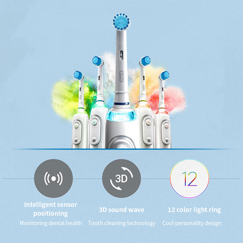 Oral B Electric Toothbrush Rechargeable Rotating IBRUSH 8000 5 Mode Bluetooth Position Detection 360 Smart Electronic Toothbrush