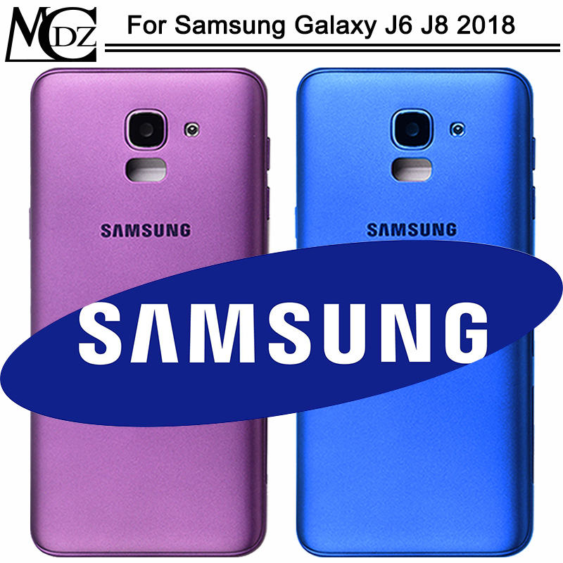New J6 J8 Battery Cover For Samsung Galaxy J6 J8 2018 J600 J600F J800 J800F Back Cover + Middle Frame Rear Chassis Housing