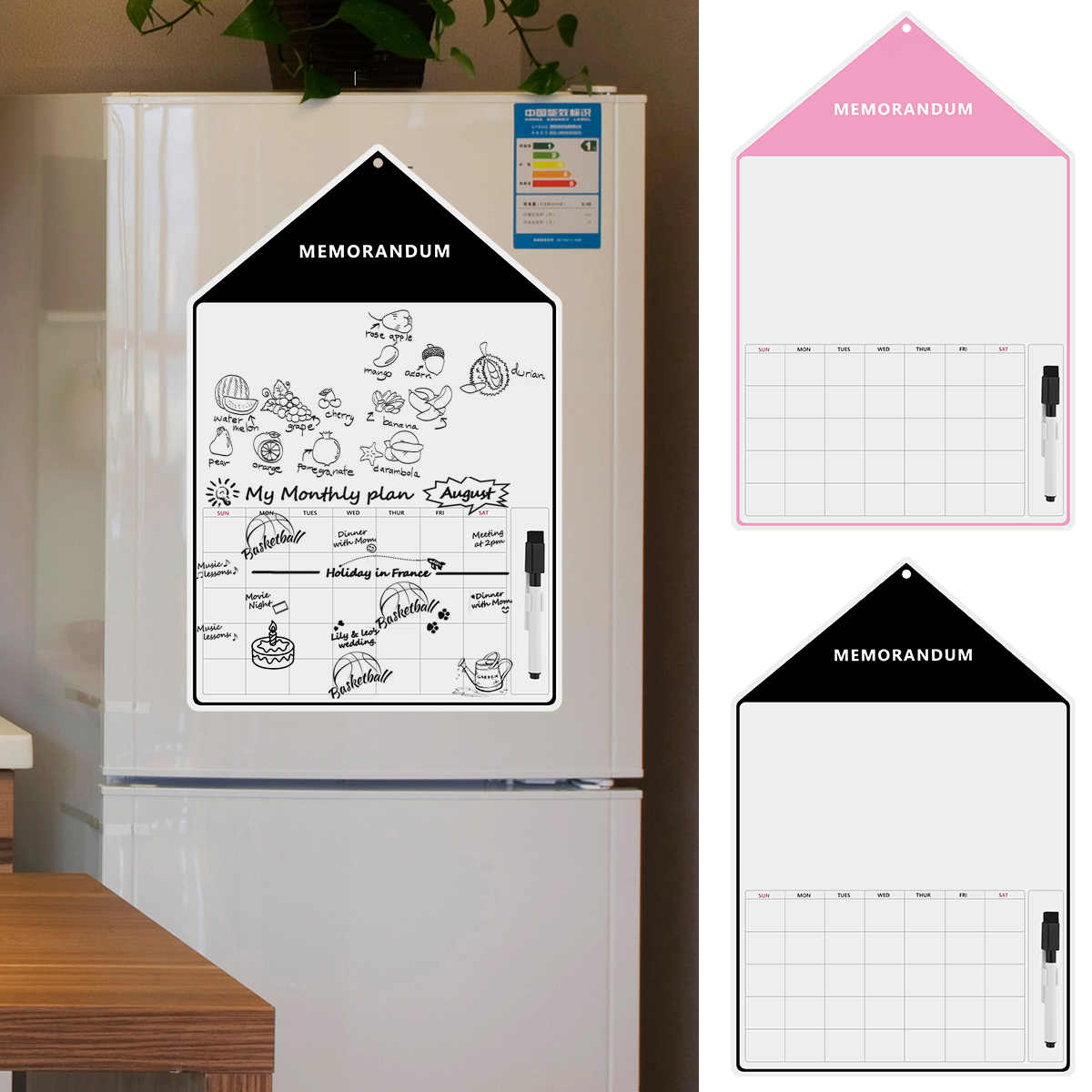 Magnetic Dry Erase Whiteboard Fridge Monthly Calendar Home Office Refrigerator Message Board Small House Refrigerator Sticker Aliexpress
