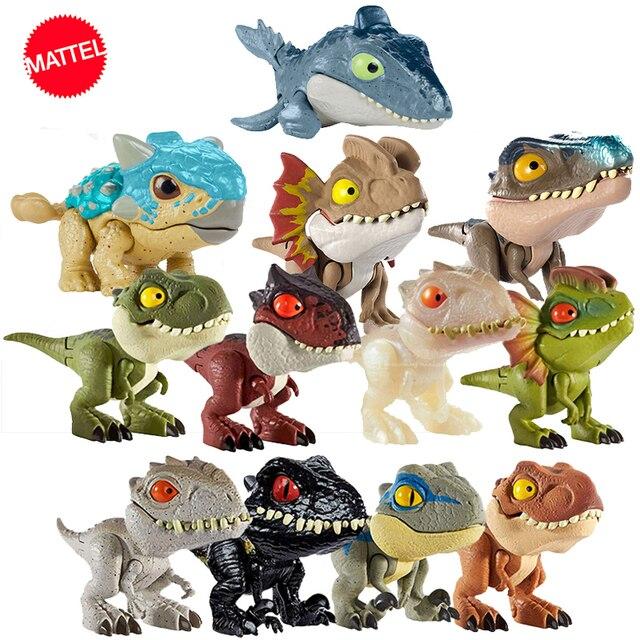 オリジナルジュラ紀世界minifingers恐竜アクションフィギュア可動ジョイントシミュレーションモデルのおもちゃハロウィンフィグマギフト