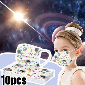 10PC Kids Planet animal print Mask Mascarillas Child Industrial 3Ply Ear Loop Mask Mouth Topmask Pollution Mask One Time Use