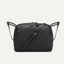 100% Leather Women's Shoulder Bag Fashion Casual Woven Bag Simple Shell Bag Autumn And Winter Wild Messenger Bag New Tide Brand