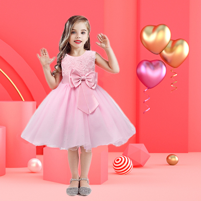 Floral Tutu Dress For Girls Dresses Kids Clothes Wedding Events Flower Girl Dress Birthday Party Costumes Children Clothing 8T 1