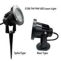 COB Led Lawn 3W 5W 7W 9W punto de luz de jardín 110V 220V Luz de jardín para decoración de jardín al aire libre impermeable