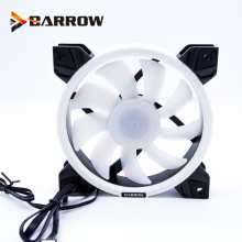 Barrow PWM Fan Size 120*120mm use for Radiator Computer Case with Aurora RGB Light 4PIN 5V 3PIN Support to AURA