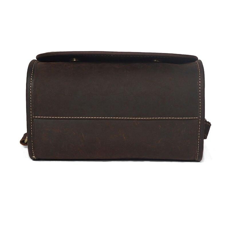 Business Fashion Echtes Leder Aktentasche für Männer Reisetasche Hohe Qualität Ipad Mini Schulter Big tote männlichen handtasche der