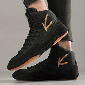Мужские легкие боксерские кроссовки, профессиональная светильник для борьбы, черные дышащие боксерские сникерсы