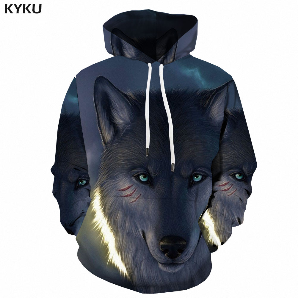 <font><b>3d</b></font> <font><b>Hoodies</b></font> Wolf Sweatshirts men <font><b>Animal</b></font> <font><b>3d</b></font> Printed War Hoodie Print Ferocious Hooded Casual Harajuku Hoody Anime <font><b>Unisex</b></font> image