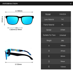 Image 3 - Viahda Gafas de sol polarizadas para hombre, lentes de sol masculinas polarizadas, de viaje, de alta calidad, con caja, 2020