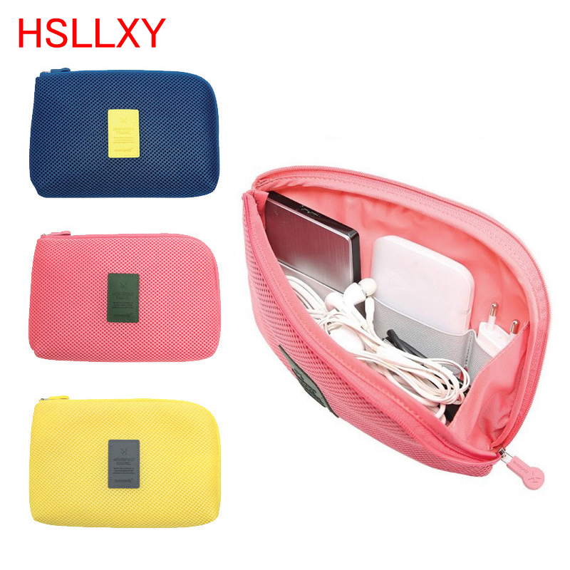 Cute Travel Accessories Organizer USB Packing Bags Viaje Digital Shockproof Bag Makeup Data Line Charger Protective Cover