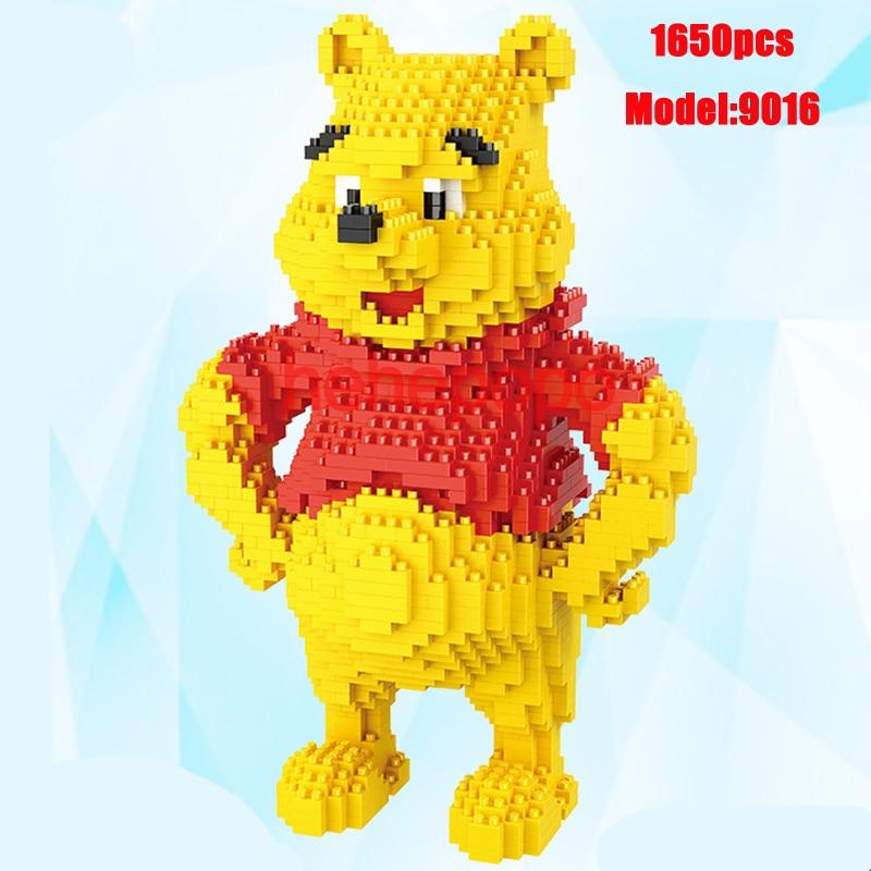 Winnie Bear Blocks Brainlink Toys Cartoon Anime Little Bear Vigny Doll Building Blocks Anime Toys Auction Model Toys 9016