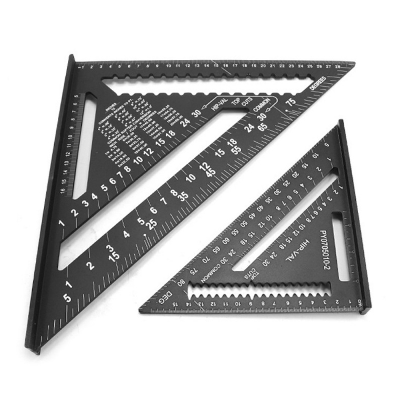 7/12inch Aluminum Alloy Triangle Angle Ruler Protractor For Woodworking Speed Square Angle Rulers Measuring Tools Gauge