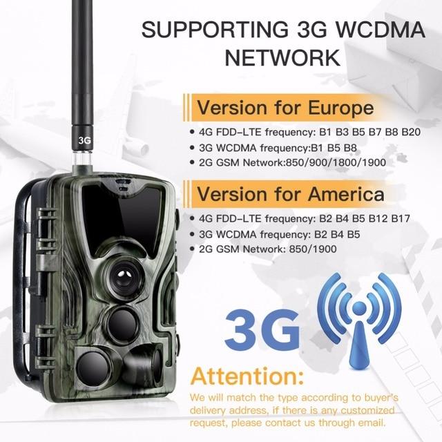 3G MMS Trail camera 0.3s Trigger Hunting camera 940nm IR LED photo traps 16mp 1080p HD night vision scout animal camera HC-801G 2