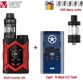 [UK SHIPPING]New Vaptio Wall Crawler Kit Refresh Edition 80W Box MOD Vape Kit Electronic Cigarette 5.0ml Atomizer 510 No Battery
