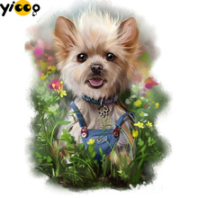 Full Square/Round drill diamond Painting Gardener puppy 5D DIY diamond embroidery mosaic Decoration painting AX0111 full square round drill diamond painting a cup of coffee 5d diy diamond embroidery mosaic decoration painting ax0111