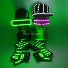 Gorra de Hip Hop con luz nocturna para hombre y mujer, sombrero de baile, DJ, LED brillante, gorras de béisbol, decoración de Festival de carnaval, envío directo