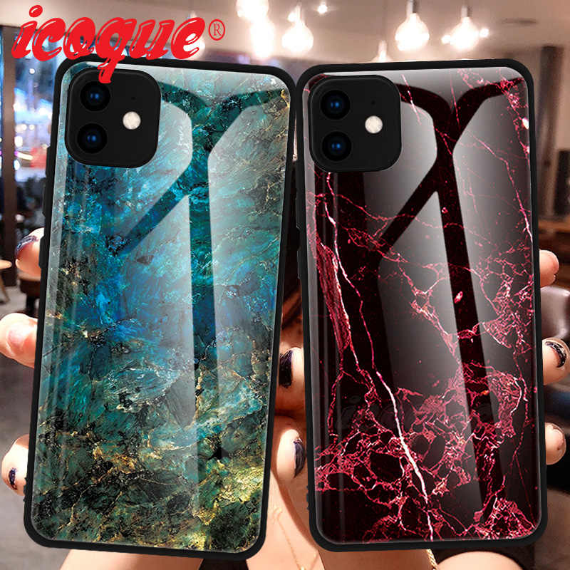 Luxury Tempered Glass Case for iPhone 11 Pro Max XS XR X Coque iphone11 Cover Phone Case for iPhone 11 Pro 5 5s SE 6s 6 7 8 Plus