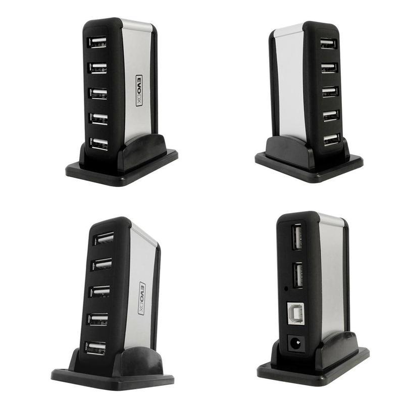 7 Port High Speed USB 2.0 HUB EU US EU Plug Charger Desktop HUB Charging Power Adapter For Smartphone PC HUB Adapter 25